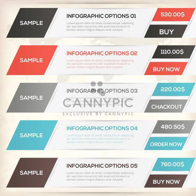 vector elements of business infographics - Free vector #133492