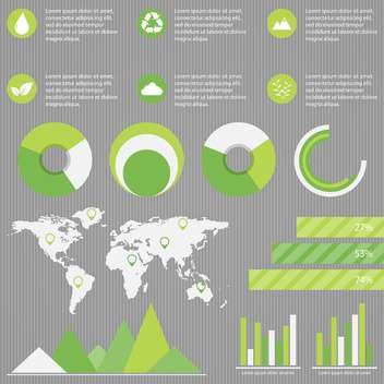 elements of business infographic set - vector gratuit #133582