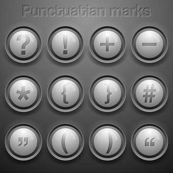 vector set of punctuation marks - vector gratuit #133602