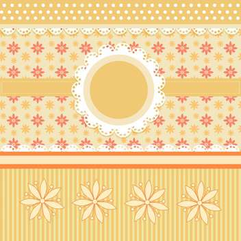 floral vector frame background - vector gratuit #133622