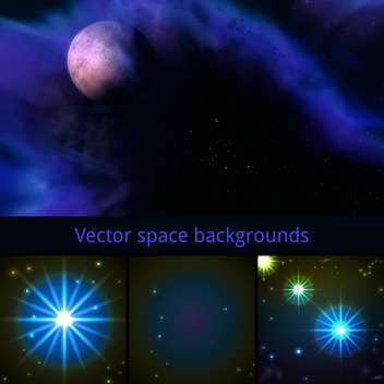 vector abstract space background - vector gratuit #133662