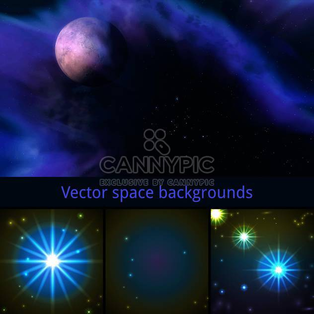 vector abstract space background - Free vector #133662