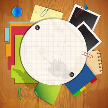 background of paper sheets and photo frames - vector gratuit #133672
