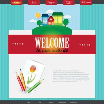 vector template of abstract website design - vector #133712 gratis