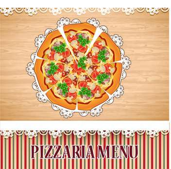 pizzaria menu template illustration - vector #133762 gratis