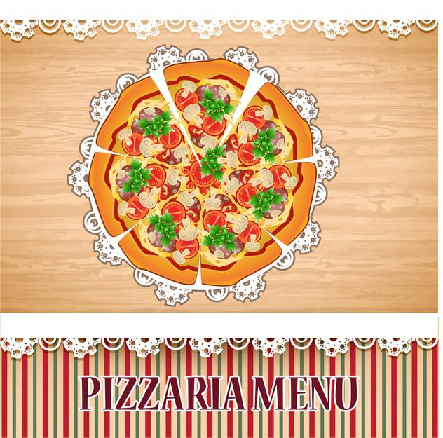 pizzaria menu template illustration - бесплатный vector #133762