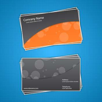business cards vector background - vector #133772 gratis