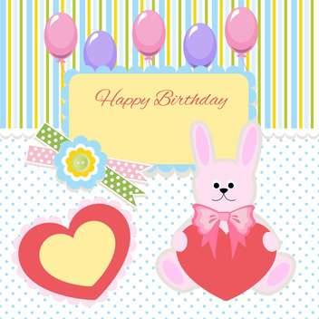 happy birthday card invitation background - vector #133802 gratis