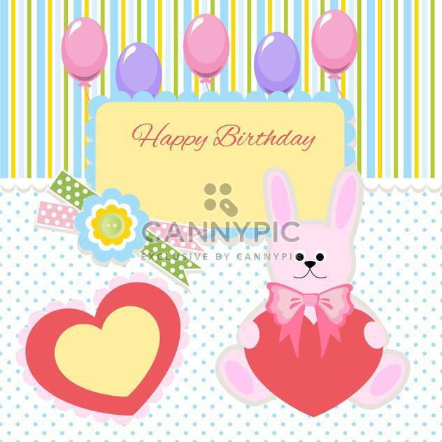 happy birthday card invitation background - Free vector #133802
