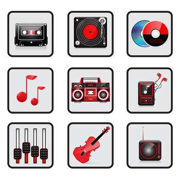 music and audio icon set - vector gratuit #133842