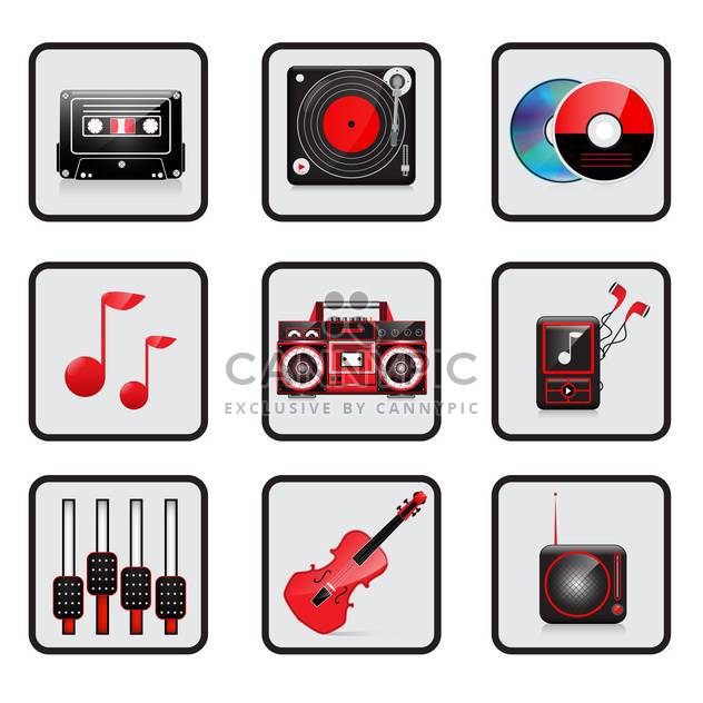 music and audio icon set - Free vector #133842