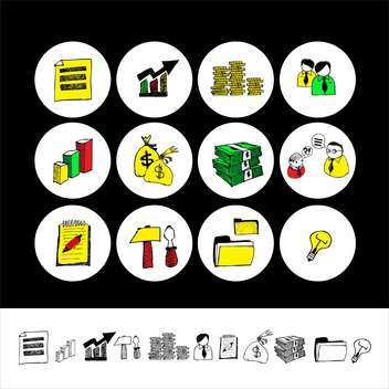 cartoon finance and money icon set - vector gratuit #133852