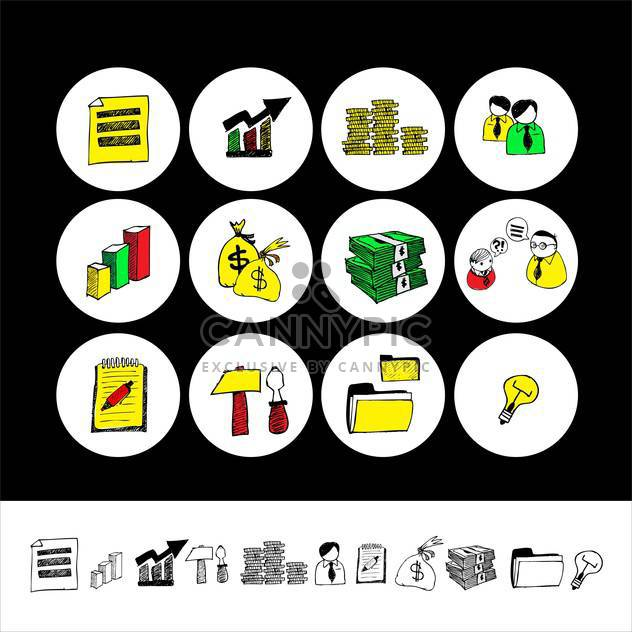 cartoon finance and money icon set - Free vector #133852