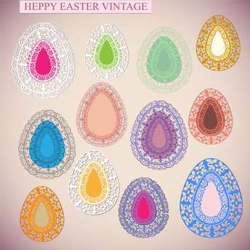 happy easter holiday card - бесплатный vector #133902