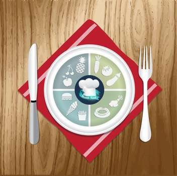 vector illustration of lunch items - vector gratuit #133922