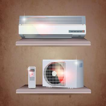air conditioner set background - vector #133942 gratis