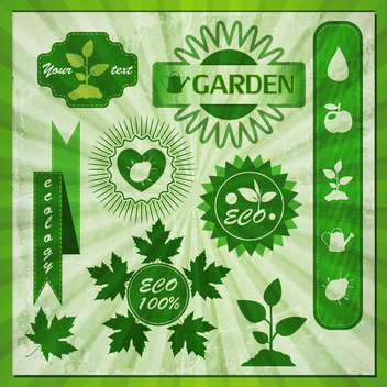 eco labels with retro vintage design - Free vector #134002