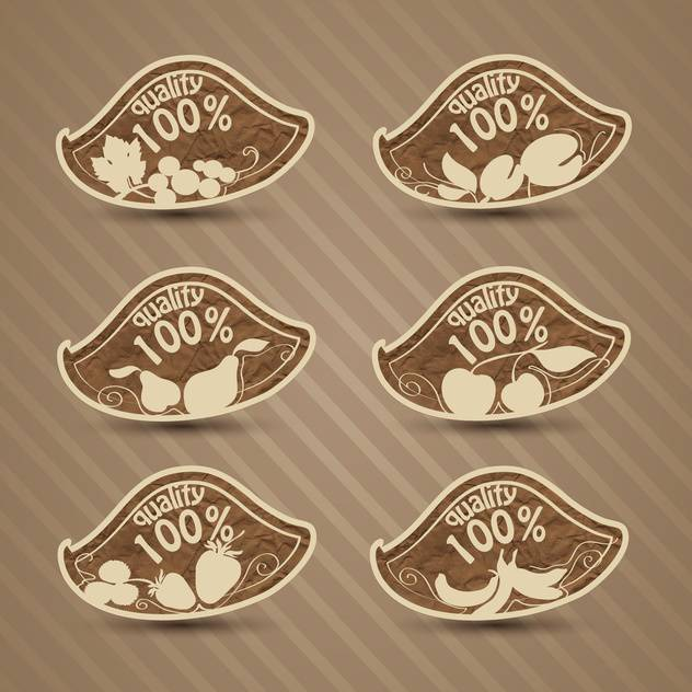 vector set of high quality food - vector gratuit #134012