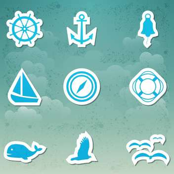 vector set of travel icons - vector gratuit #134022