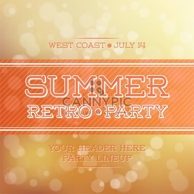 vintage summer party poster - Free vector #134172
