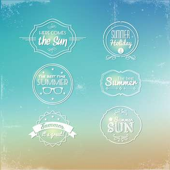 vintage labels for travel background - vector gratuit #134192