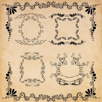 vintage design elements set - vector gratuit #134222
