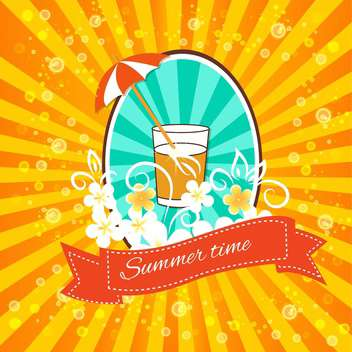 vintage summertime vacation background - vector gratuit #134242