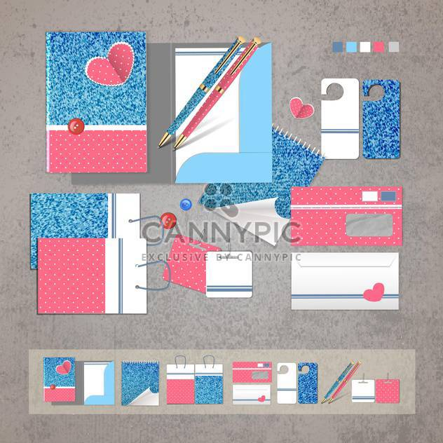 Set of corporate identity items - Free vector #134252