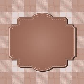 vintage abstract design frame - vector gratuit #134262