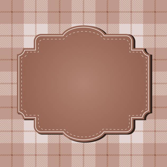 vintage abstract design frame - vector #134262 gratis
