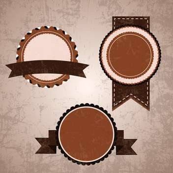 vintage design emblems set - vector gratuit #134272