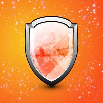blank vector shield illustration - vector gratuit #134282