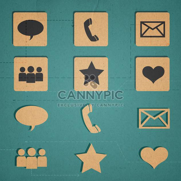 web icons set internet collection - Free vector #134312