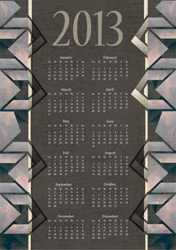 vintage new year calendar background - vector #134362 gratis