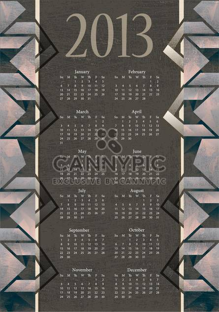 vintage new year calendar background - Free vector #134362