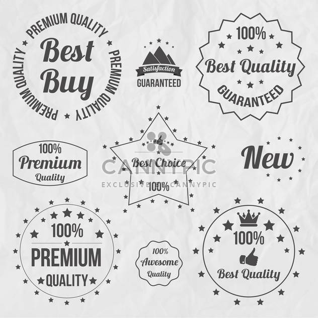 vintage sale signs set - Free vector #134382