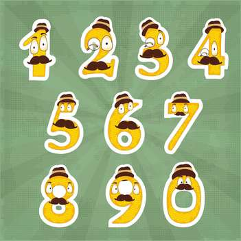 funny numbers digits set - vector gratuit #134412