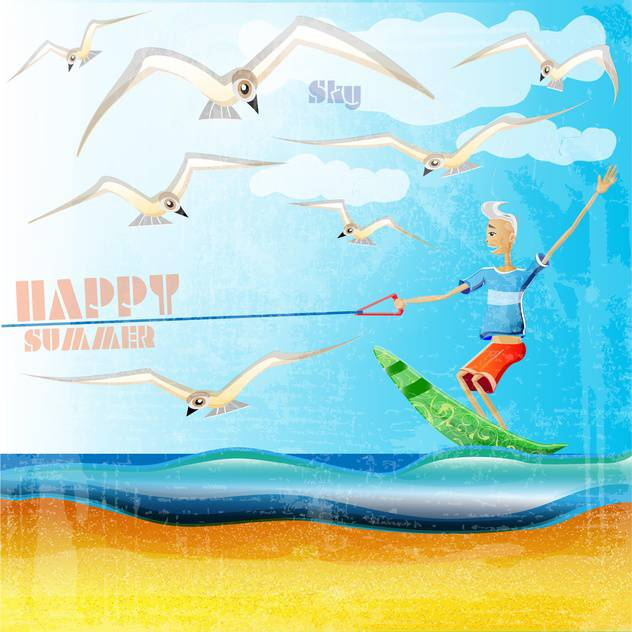 summer holiday vacation background - vector gratuit #134472