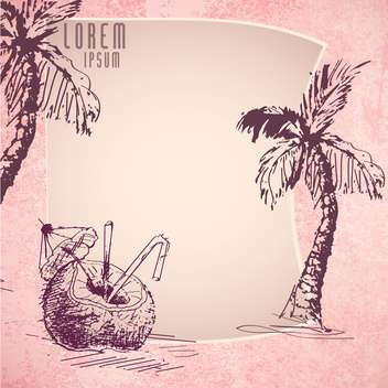 summer sketch art background - vector #134492 gratis