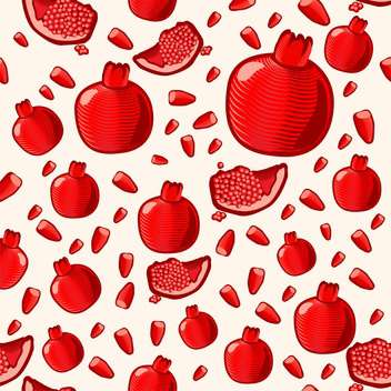 ripe red pomegranate seamless background - vector gratuit #134552