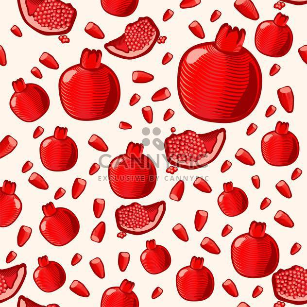 ripe red pomegranate seamless background - Free vector #134552