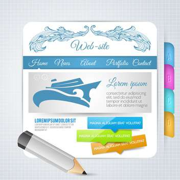 set of elements for web page design - vector gratuit #134572