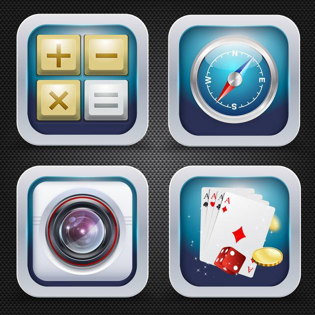 set of icons leisure time theme - vector gratuit #134592