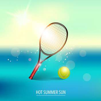 vector illustration of tennis items - vector gratuit #134612