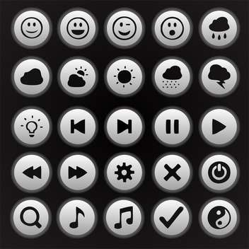 media player buttons collection - vector gratuit #134642
