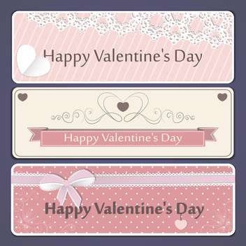 valentine's day banner vector set - бесплатный vector #134662