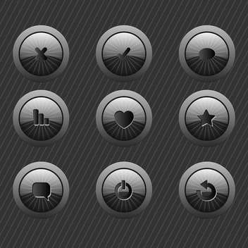e-mail web icons on buttons - vector #134712 gratis