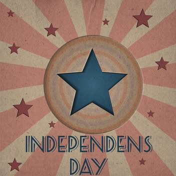 vintage vector independence day background - Free vector #134742
