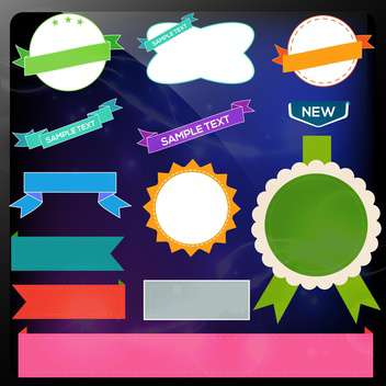 colorful paper labels set - vector #134762 gratis