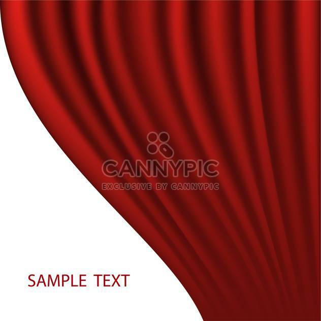 red abstract curtain vector background - Free vector #134852